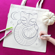 Cat Organic Coloring Kit Tote