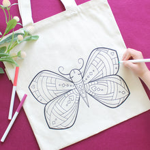 Butterfly Organic Coloring Kit Tote
