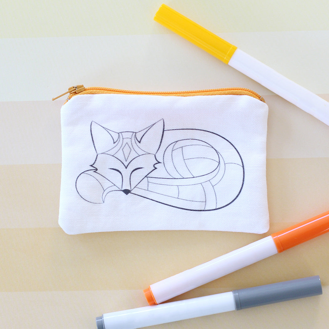 Fox Coloring Kit Coin Purse