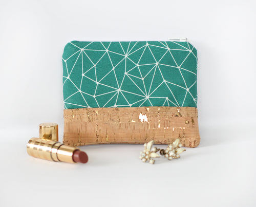 Emerald Zippered Coin Purse