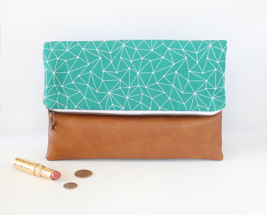 Emerald Foldover Clutch