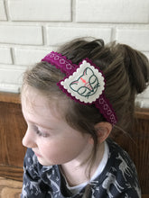 Napping Kitty Wool Felt Girl's Headband