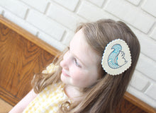 Sprightly Squirrel Wool Felt Embroidered Hair Clip