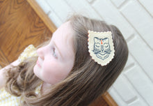 Royal Tiger Wool Felt Embroidered Hair Clip