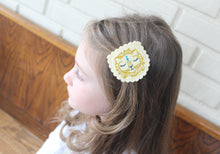 Royal Lion Wool Felt Embroidered Hair Clip