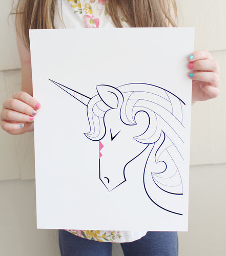 Dreaming Unicorn Fine Art Print