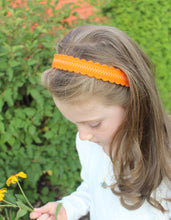 Orange Merino Wool Felt Embroidered Headband