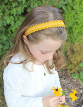 Ochre Merino Wool Felt Embroidered Headband