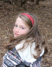 Cranberry Merino Wool Felt Embroidered Headband