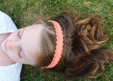 Coral Merino Wool Felt Embroidered Headband