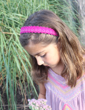 Boysenberry Merino Wool Felt Embroidered Headband