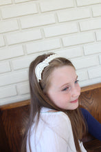 Silver Moon Wool Felt Embroidered Headband