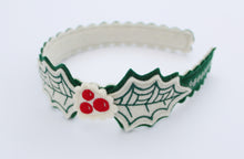 Christmas Holly Wool Felt Girl's Headband