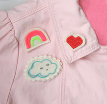 Rainbow/Cloud/Heart Embroidered Pin Set