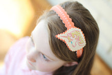Pink Dreaming Unicorn Wool Felt Girl's Headband