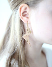 Lightning Bolt Cork Earrings