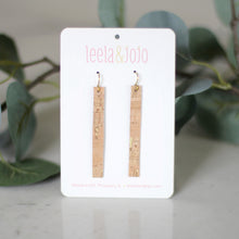 Narrow Rectangle Cork Earrings