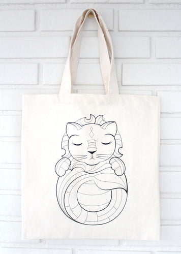 Lion Coloring Kit Tote