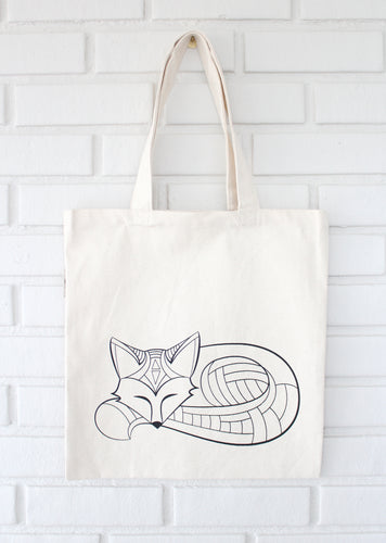 Fox Coloring Tote
