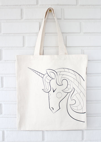 Unicorn Coloring Tote
