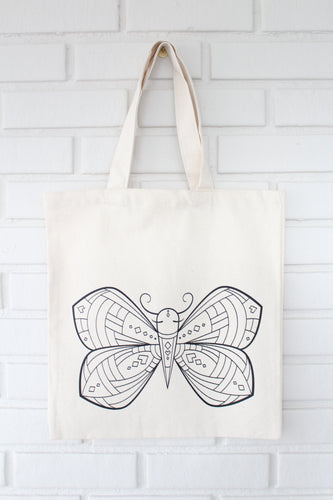 Butterfly Coloring Kit Tote