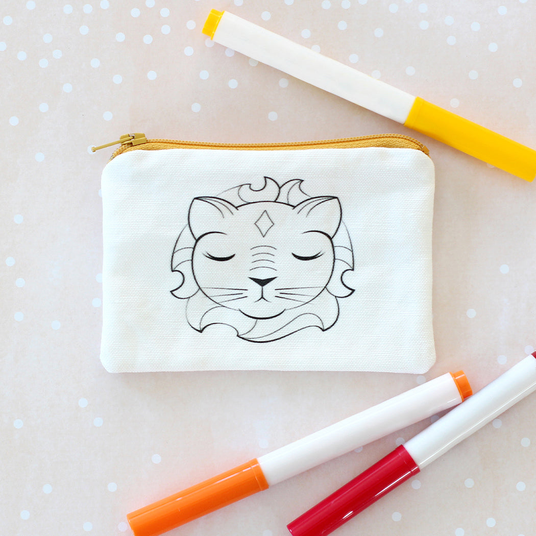 Lion Coloring Kit Coin Purse