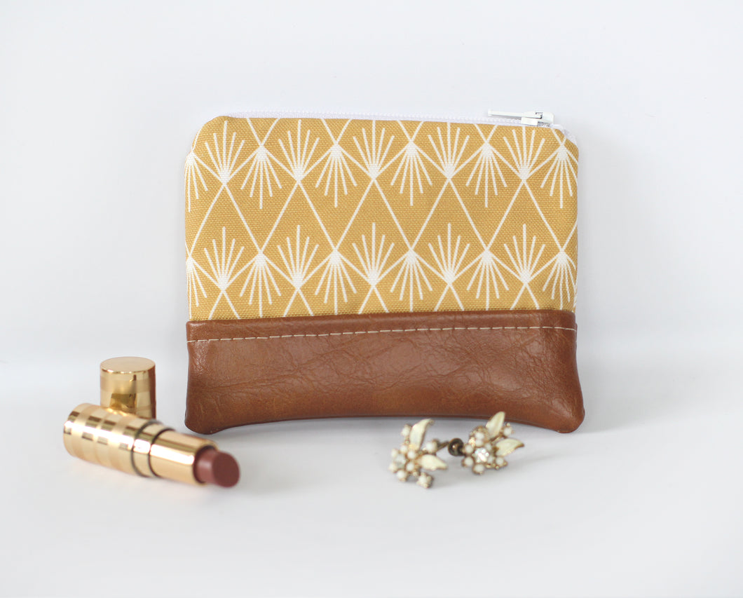 Ochre Zippered Coin Purse