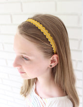 "Ochre ""Skinny"" Wool Felt Embroidered Headband"