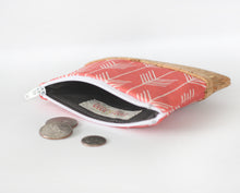 Coral Zippered Coin Purse
