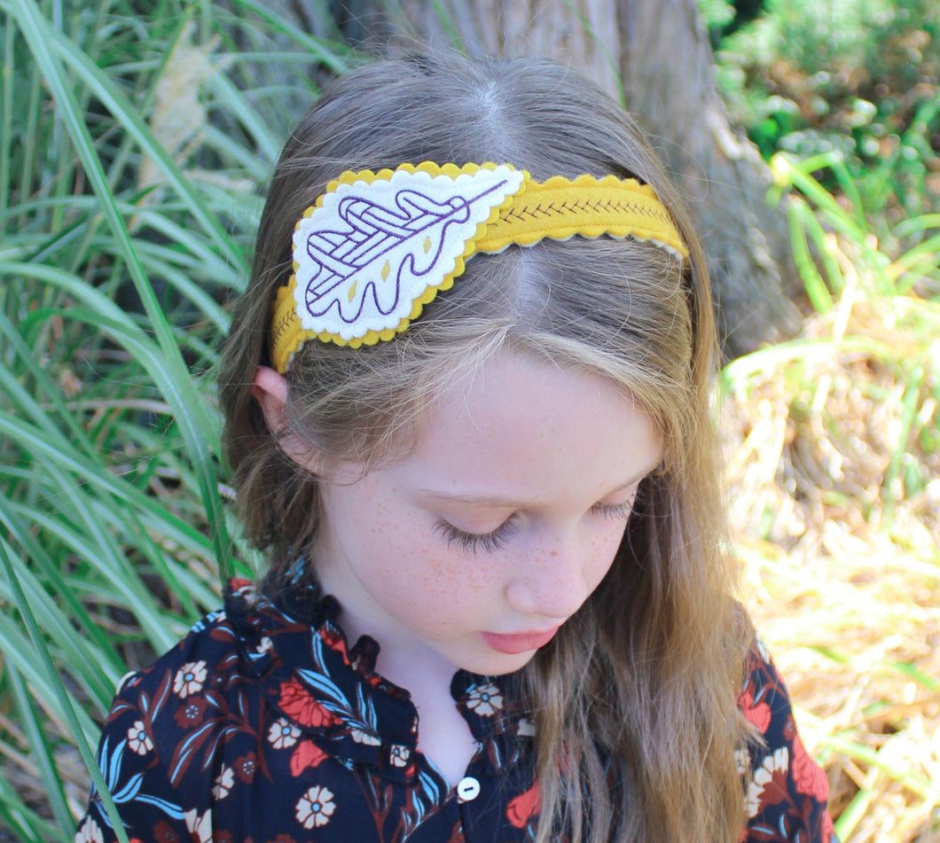 Autumn Leaf Wool Felt Girl's Headband