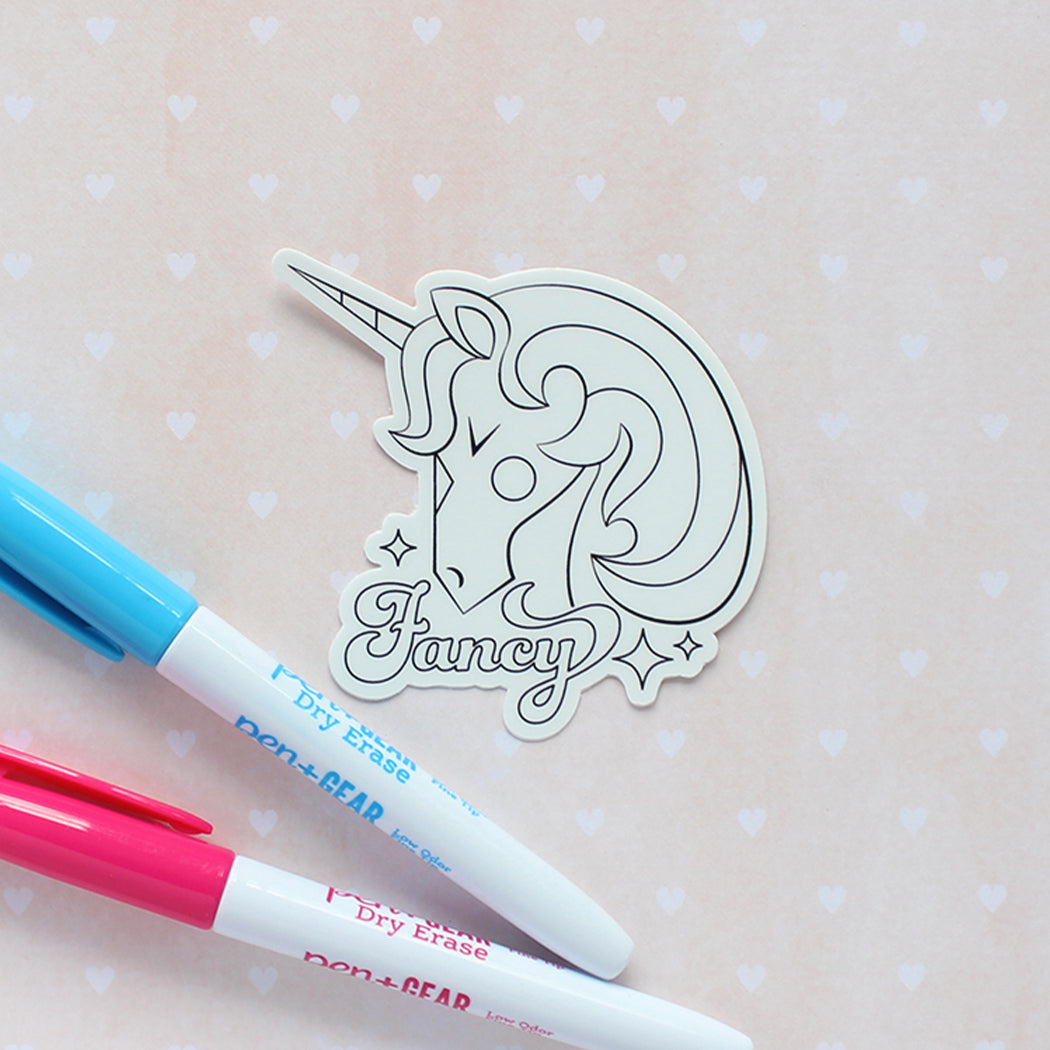 Unicorn Vinyl Sticker Coloring Kit