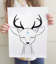 Hushed Deer Fine Art Print