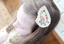 Chirping Bird Wool Felt Embroidered Hair Clip