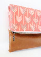 Coral Foldover Clutch