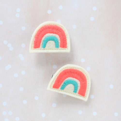 Rainbow Hair Clip Set