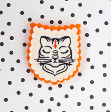 Royal Tiger Embroidered Brooch