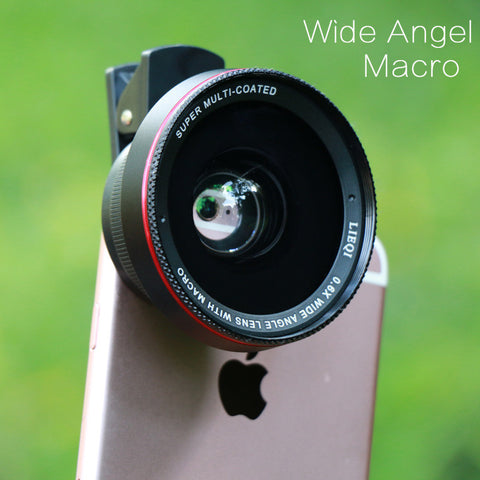 LIEQI Pro 2 in 1 Wide Angle iPhone Lens