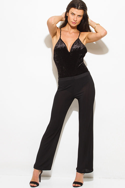 Private Jet High Waisted Flare Pants - Black