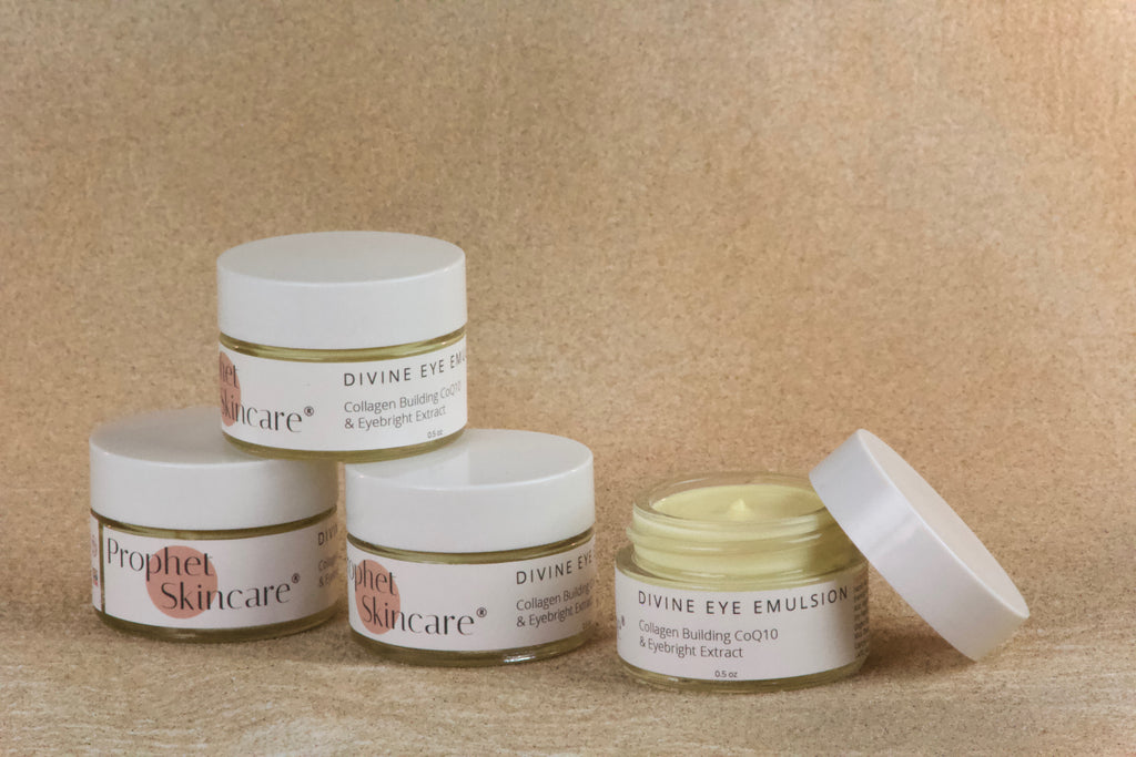 wrinkles  under-eye darkness  under-eye  safe skincare  puffiness  prophet skincare  prophet natural skincare  prophet clean skincare  prophet  pro-aging  non-toxic skincare  non-toxic eye cream  natural skincare  moisturizer  fine lines  eye emulsion  eye bags  eye  effective natural eye cream  divine eye emulsion  dark circles  crow's feet  creme  clean skincare  anti-aging  age-defying