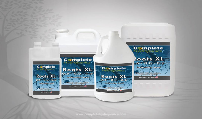 Complete Hydroponics Roots XL 0.6 - 0.0 - 0.6 Invigorating Agent For Use on All Media and All Systems Product of USA