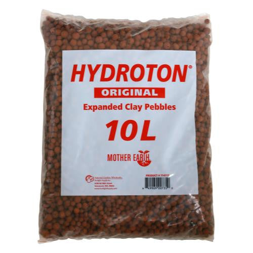 Hydroton Original Expanded Clay Pebbles, 10 Liter, Terra Cotta