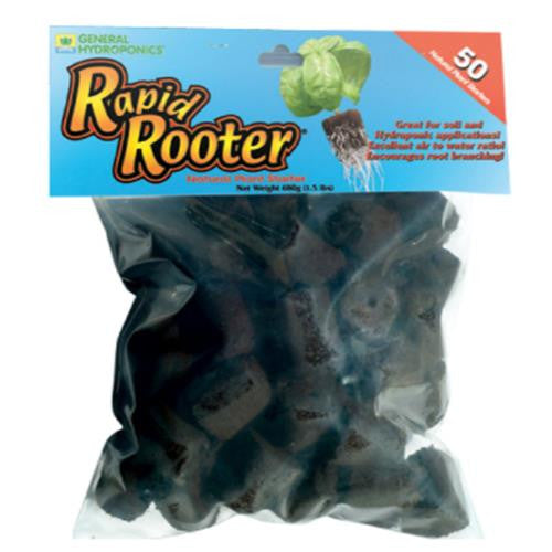 General Hydroponics Rapid Rooter 50/Pack Replacement Plugs