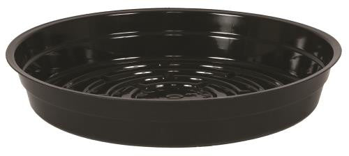 Gro Pro Premium Heavy Duty Vinyl Black Saucer 8 in (25/Cs)