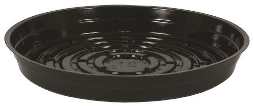 Gro Pro Premium Heavy Duty Vinyl Black Saucer 10 in (25/Cs)