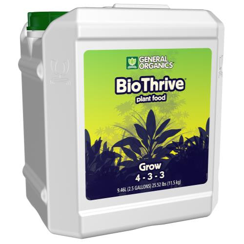 GH General Organics BioThrive Grow 2.5 Gallon (2/Cs)