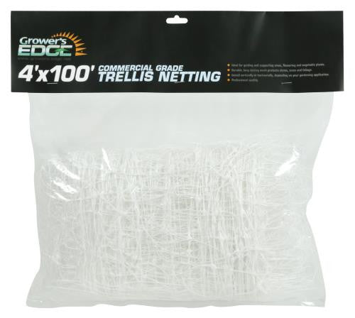 Grower's Edge Commercial Grade Trellis Netting 4 ft x 100 ft (10/Cs)
