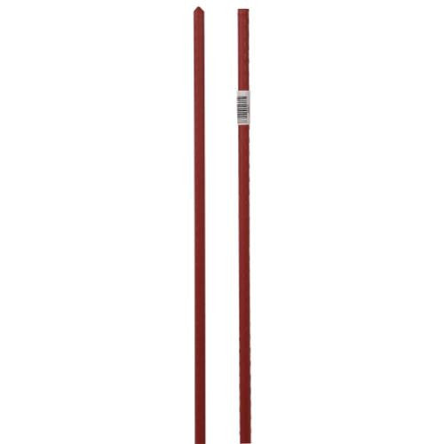 Grower's Edge Deluxe Steel Stakes 7/16 in Diameter 5 ft - Red (20/Cs)