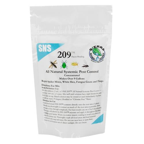 SNS 209 Systemic Pest Control Conc. 2.5 oz Pouch (10/Cs)