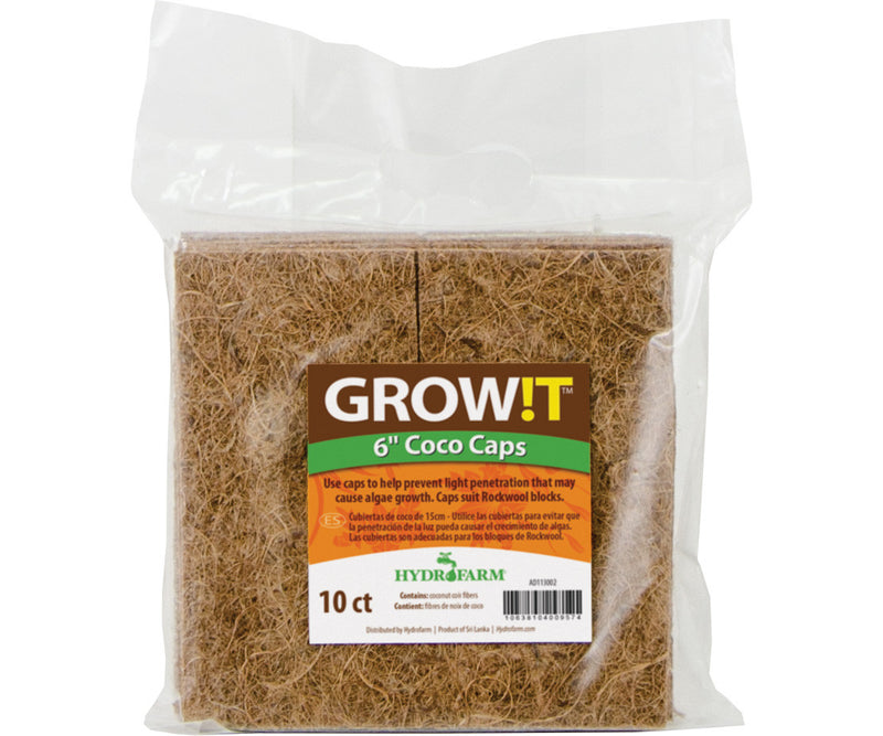 "GROW!T Coco Caps, 6"", pack of"