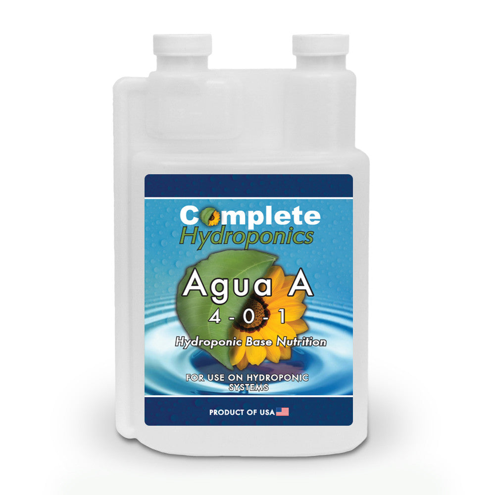 Complete Hydroponics Agua A 4-0-1 Hydroponic Base Nutrition For Use on Hydroponic Systems Product of USA